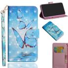 For OPPO A5 (2020) / A9 (2020) 3D Painting Pattern Horizontal Flip TPU + PU Leather Case with Holder & Card Slots & Wallet(Three Butterfly) - 1