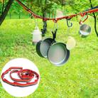 Outdoor Camping Tent Rainbow Rope Decoration Color Ribbon and a Storage Bag, Size: 187*2 cm - 1