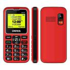UNIWA V171 Mobile Phone, 1.77 inch, 1000mAh Battery, 21 Keys, Support Bluetooth, FM, MP3, MP4, GSM, Dual SIM, with Docking Base (Red) - 3