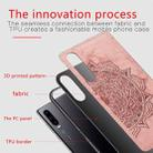For Huawei P30 Embossed Mandala Pattern PC + TPU + Fabric Phone Case with Lanyard & Magnetic(Rose Gold) - 4