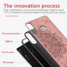 For Huawei P30 Lite & Nova 4E Embossed Mandala Pattern PC + TPU + Fabric Phone Case with Lanyard & Magnetic(Rose Gold) - 4