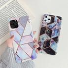 For iPhone 11 Pro Max   Plating Colorful Geometric Pattern Mosaic Marble TPU Mobile Phone Case(Purple PJ4) - 5