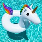 Summer Inflatable Unicorn Shaped Float Pool Lounge Swimming Ring Floating Bed Raft, Size: 120cm - 2