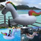 Summer Inflatable Unicorn Shaped Float Pool Lounge Swimming Ring Floating Bed Raft, Size: 120cm - 5