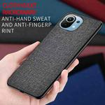 For Xiaomi Mi 11 Shockproof Cloth Texture PC + TPU Protective Case(Style Blue)