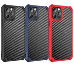 Carbon Fiber Acrylic Shockproof Protective Case For iPhone 12(Black)