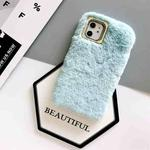 For iPhone 11 Pro Max Solid Color Plush Phone Protect Case(Blue)