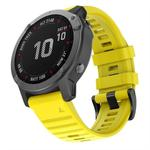 For Garmin Fenix 6 22mm Silicone Smart Watch Replacement Strap Wristband(Yellow)