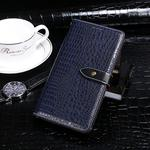 For OPPO A91 idewei Crocodile Texture Horizontal Flip Leather Case with Holder & Card Slots & Wallet(Dark Blue)