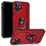 For iPhone 12 / 12 Pro Shockproof TPU + PC Protective Case with 360 Degree Rotating Holder(Red)