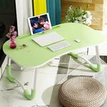 Foldable Non-slip Laptop Desk Table Stand with Card Slot (Green)