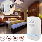 Electronic Ultrasonic Anti Mosquito Rat Insect Pest Repeller with Light, UK Plug, AC 110-220V