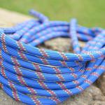 Climbing Auxiliary Rope Static Rope Safety Rescue Rope, Length: 20m Diameter: 10mm(Blue)