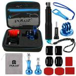 PULUZ 16 in 1 CNC Metal Accessories Combo Kits with EVA Case (Screws + Surface Mounts + Tripod Adapter + Extendable Pole Monopod + Storage Bag + Wrench) for GoPro HERO9 Black / HERO8 Black / HERO7 /6 /5 /5 Session /4 Session /4 /3+ /3 /2 /1, DJI Osmo Action and Other Action Cameras