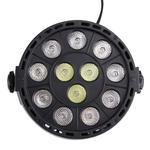 KD-12W 12 LED PAR Light Stage Light, with LED Display, Master / Slave / DMX512 / Auto Run Modes, US/EU Plug