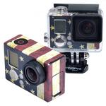 Retro US Flag Pattern Case Sticker for GoPro HERO3+ /3