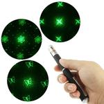 4mw 532nm Green Beam Laser Stage Pen, Ninja Dart / Heart / Butterfly / Flower / Smiley Face etc. 6 Patterns(Black)