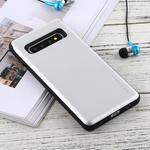 GOOSPERY Sky Slide Bumper TPU + PC Case for Galaxy S10+, with Card Slot(Silver)