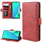 For OPPO A9 (2020) Dual-side Magnetic Buckle Horizontal Flip Leather Case with Holder & Card Slots & Wallet & Photo Frame(Red)