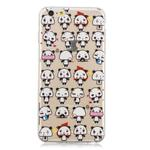 For iPhone 6 Plus 3D Pattern Transparent TPU Case(Mini Panda)