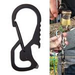 Outdoor Tools Carabiner  Hex Driver Bottle Opener Keychain Ring Climbing Accessories(Silver)