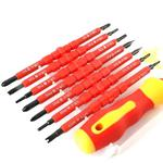 7 in 1 Bit Insulation Multipurpose Repair Tool Screwdriver Set(Red)
