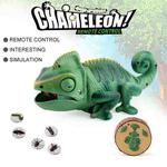 8888 Children Electric Infrared Remote Control Crawling Chameleon Colorful Breathing Light Tricky Toy