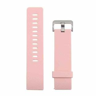 For Fitbit Blaze Watch Oblique Texture Silicone Watchband, Large Size, Length: 17-20cm(Pink)