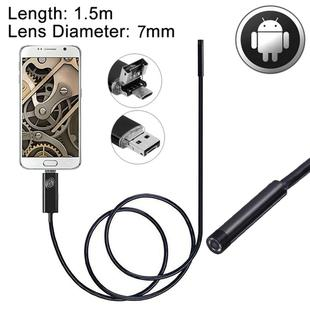 2 in 1 Micro USB & USB Endoscope Waterproof Snake Tube Inspection Camera with 6 LED for Newest OTG Android Phone, Length: 1.5m, Lens Diameter: 7mm