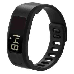 For Garmin Vivofit 1 Smart Watch Silicone Watchband, Length: about 21cm(Black)