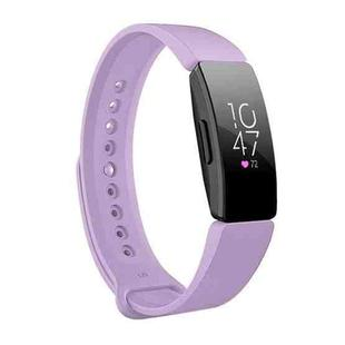 Smart Watch Snap Fastener Wrist Strap Watchband for Fitbit Inspire HR (Light Purple)
