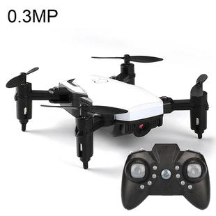LF606 Wifi FPV Mini Quadcopter Foldable RC Drone with 0.3MP Camera & Remote Control, One Battery, Support One Key Take-off / Landing, One Key Return, Headless Mode, Altitude Hold Mode(White)
