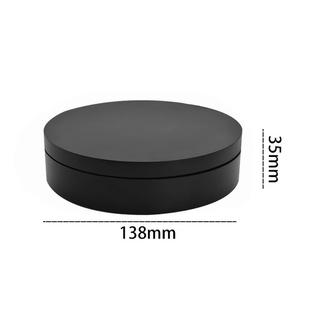13.8cm USB Charging Smart 360 Degree Rotating Turntable Display Stand Video Shooting Props Turntable for Photography, Load 3kg (Black)