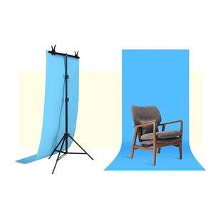 70x200cm T-Shape Photo Studio Background Support Stand Backdrop Crossbar Bracket Kit with Clips