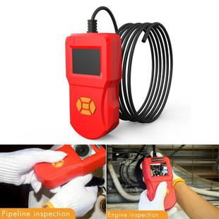 inskam127 IP67 HD Digital 2.4 inch Display Screen Handheld Endoscope Industrial Home Endoscopes,  Lens Size: 5.5mm, Hard Cable Length: 5m (Red)
