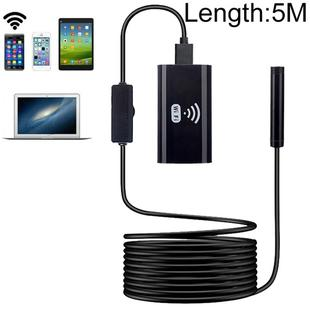 F99 HD Mobile Phone Endoscope, 8mm Waterproof Pipe Endoscope, Wifi Version, Flexible Cord, Length: 5m (Black)