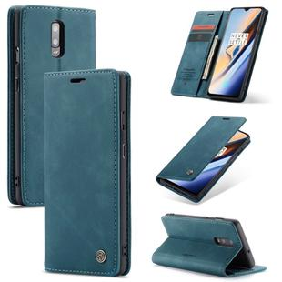 CaseMe-013 Multifunctional Horizontal Flip Leather Case with Card Slot & Holder for OnePlus 7(Blue)