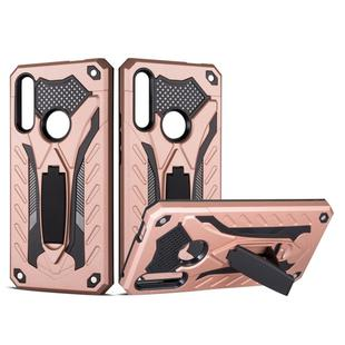 Shockproof TPU + PC Protective Case with Holder For Huawei Y9 Prime (2019)(Rose Gold)