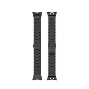 For Garmin Forerunner 45 / 45S / Swim 2 Universal Three Beads Stainless Steel Replacement Wrist Strap Watchband(Black)