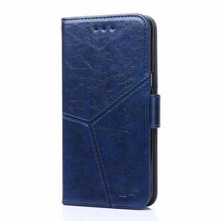 For Huawei Mate 40 Pro Geometric Stitching Horizontal Flip TPU + PU Leather Case with Holder & Card Slots & Wallet(Blue)