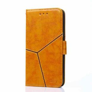 For Huawei Mate 40 Pro Geometric Stitching Horizontal Flip TPU + PU Leather Case with Holder & Card Slots & Wallet(Yellow)