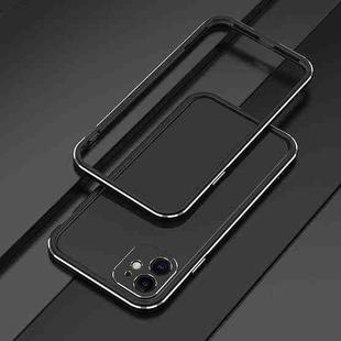 Aurora Series Lens Protector + Metal Frame Protective Case For iPhone 11 Pro Max(Black Silver)
