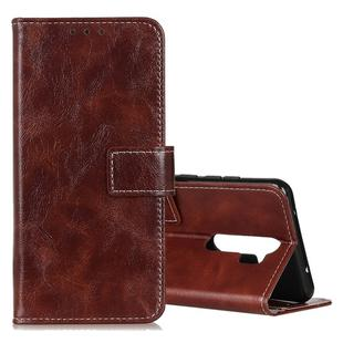 For OPPO A9 (2020) Retro Crazy Horse Texture Horizontal Flip Leather Case with Holder & Card Slots & Photo Frame & Wallet(Brown)