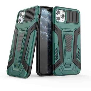 War Chariot Series Armor All-inclusive Shockproof PC + TPU Protective Case with Invisible Holder For iPhone 11 Pro Max(Green)