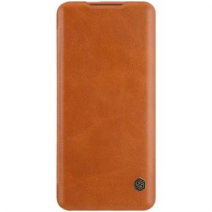 For OnePlus 7T Pro NILLKIN QIN Series Crazy Horse Texture Horizontal Flip Leather Case with Card Slot(Brown)