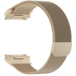 For FITBIT Ionic Milanese Watch Strap Large Size : 24X2.2cm(Champagne Gold)
