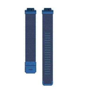 Stainless Steel Metal Mesh Wrist Strap Watch Band for Fitbit Inspire / Inspire HR / Ace 2, Size: L(Dark Blue)