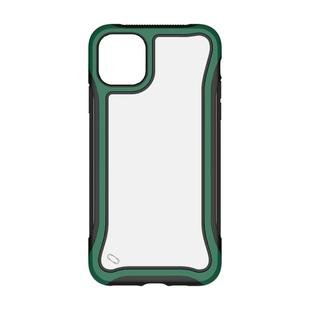 For iPhone 11 Pro Max Blade Series Transparent AcrylicProtective Case(Dark Green)