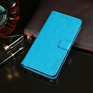 For OPPO Realme X2 idewei Crazy Horse Texture Horizontal Flip Leather Case with Holder & Card Slots & Wallet(Sky Blue)