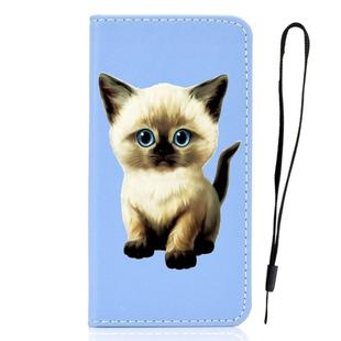 For Galaxy S9 3D Painting Horizontal Flip Leather Case with Holder & Card Slot & Wallet & Lanyard(Cat)